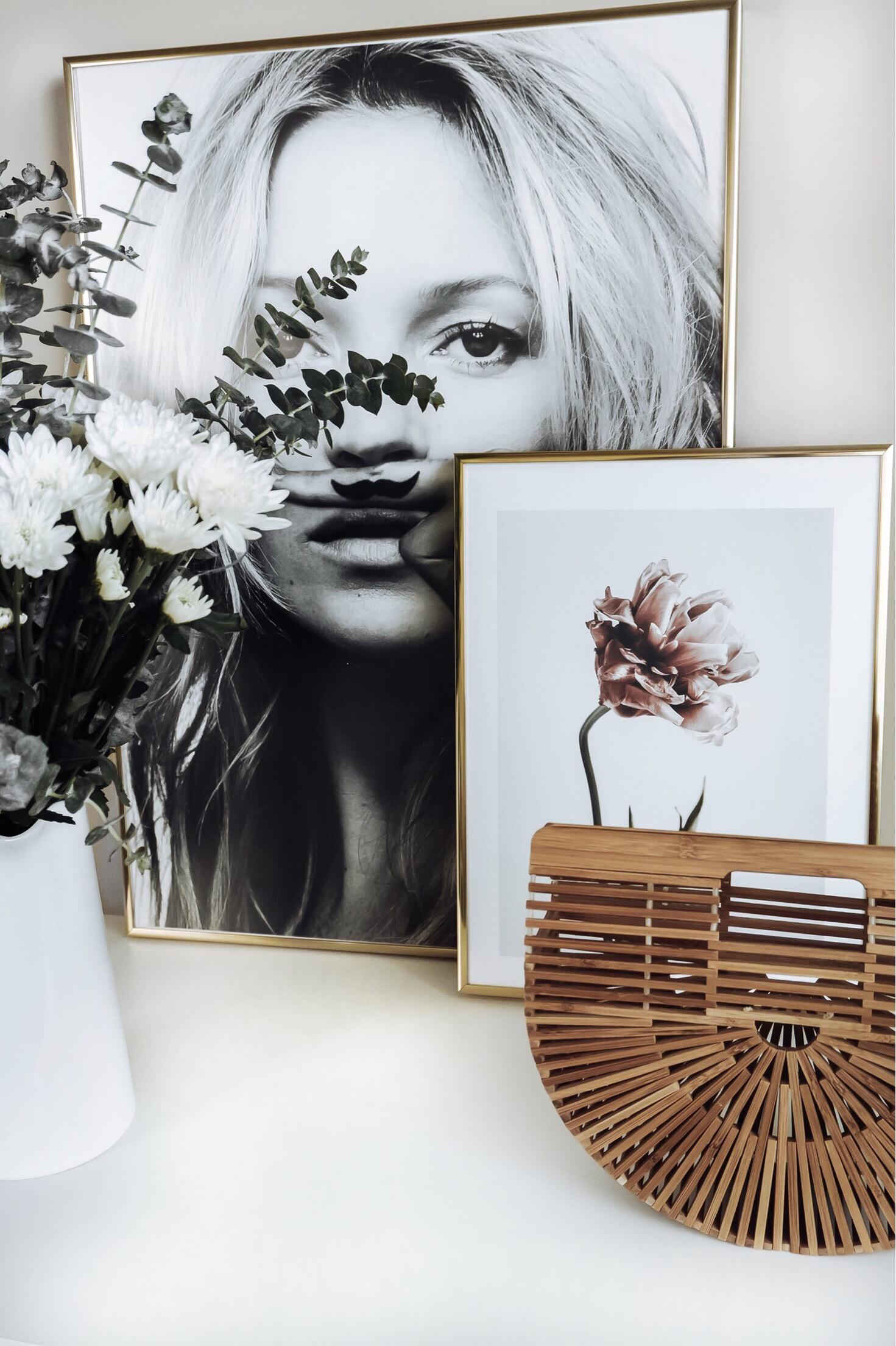 Tiffany Jais Houston fashion and lifestyle blogger | Friday feels | Deseno art prints Kate Moss, Life is a joke print | Scandinavian interiors Pink Tulip Print, home decor |
