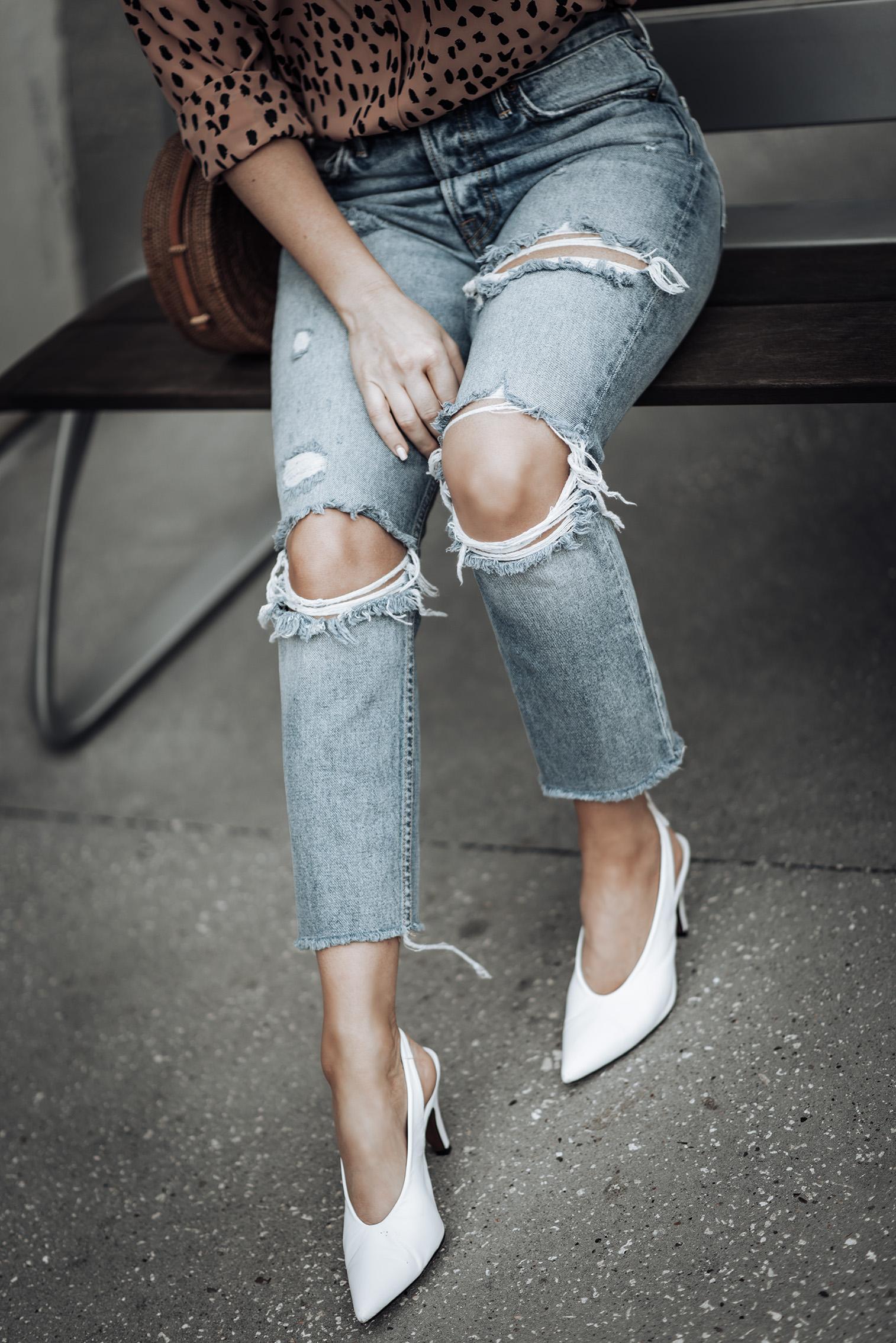 Animal print | Tiffany Jais fashion and lifestyle blogger of Flaunt and Center | Houston fashion blogger | Straw handbag Trend | Streetstyle blog