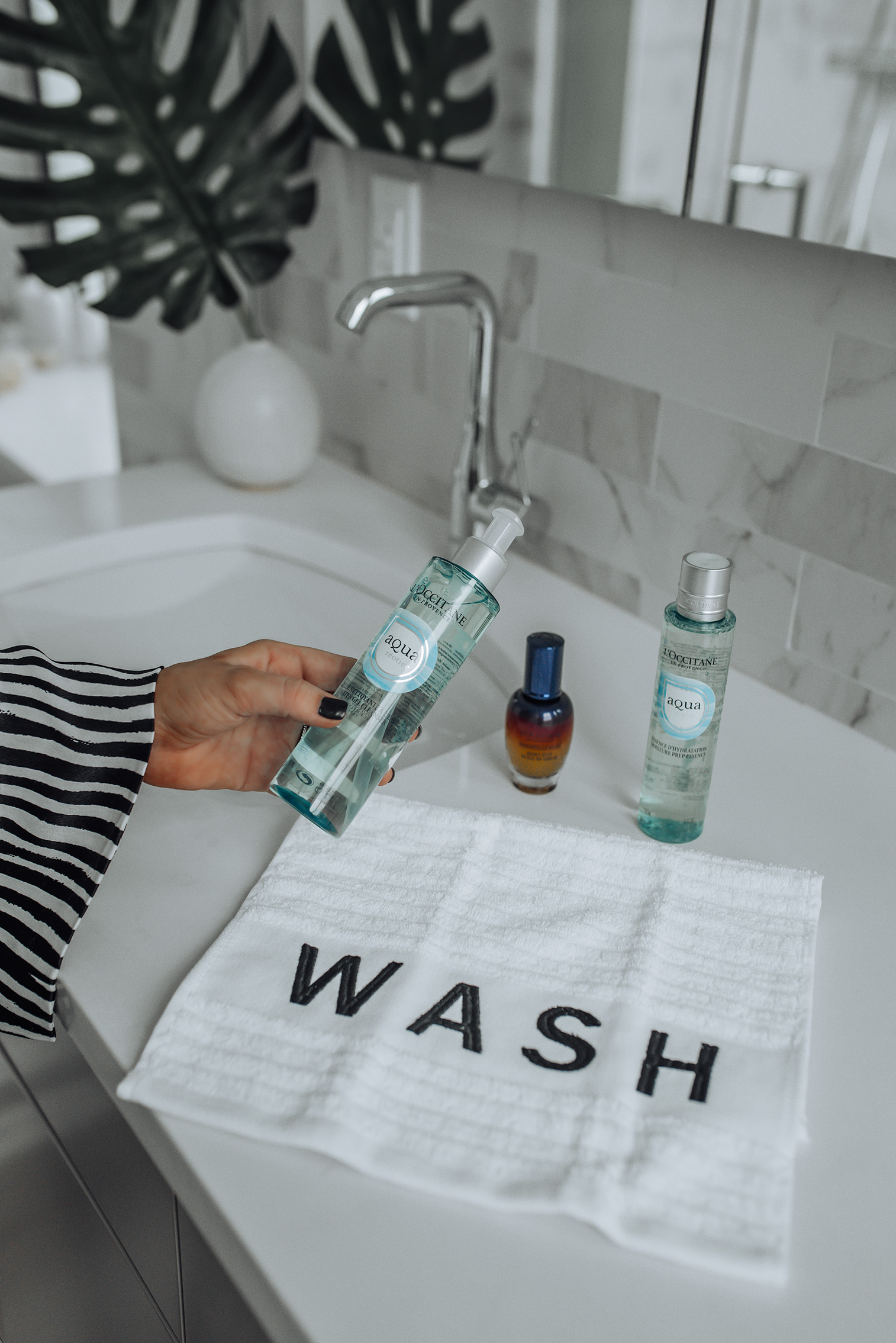 Reset your skincare with L'Occitane |Aqua Reotier Water Gel Cleanser | Aqua Reotier Moisture Prep Essence | Overnight Reset Oil-In-Serum #beautyproducts #pregnancysafeskincare