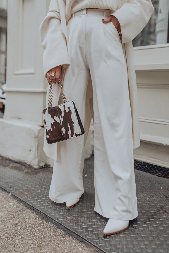 Happy Friday loves! Popping over real quick to share this NYFW look I wore for day 2! You guys know how much I love a neutral look with a pop of print and this bag was a no brainer! It instantly gives a really fun vibe to any look and the brown tones are so pretty.