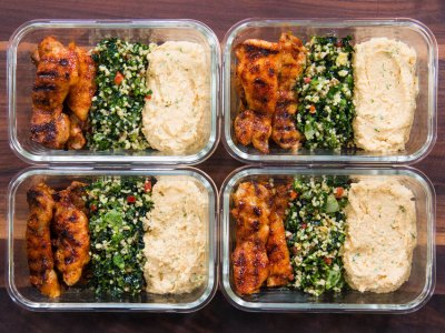 grilled chicken thigh meal prep