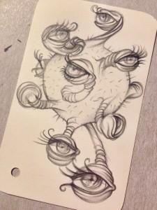 Alieno-occhi-matita