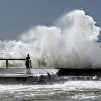 Ostia Lido - Storm and Statue