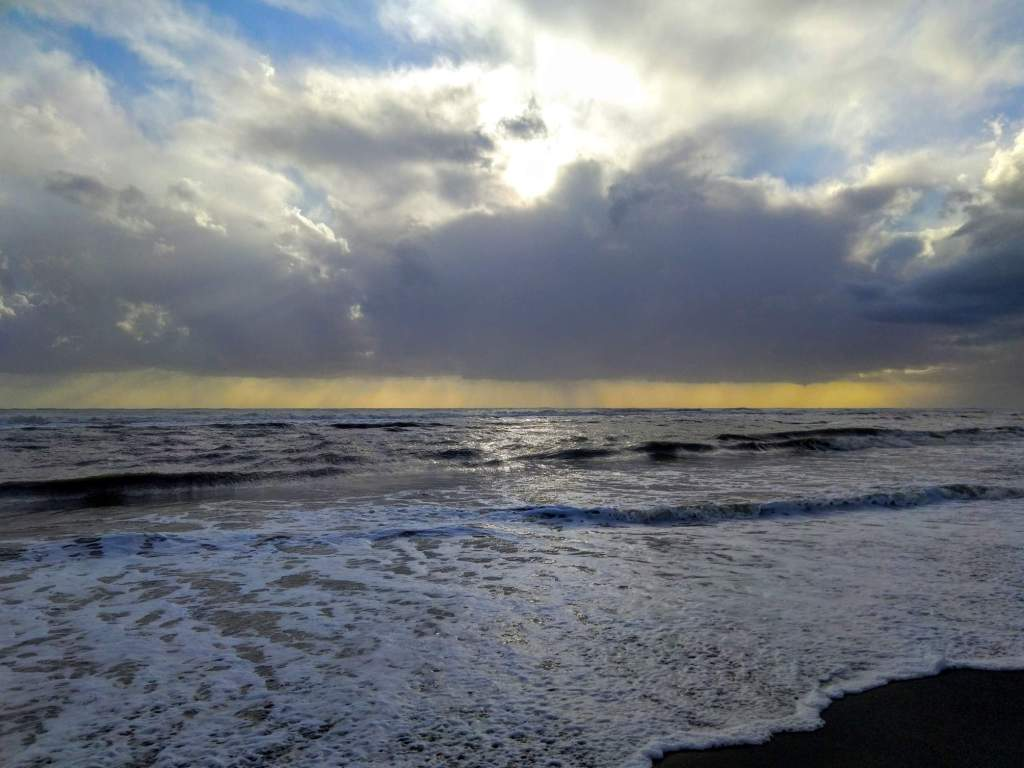 sea after the storm in Ostia
