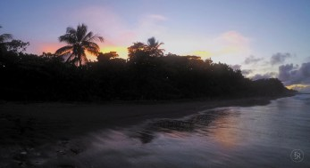 Sunset at Tortuguero Beach, Costa Rica
