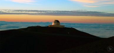 Enjoying the sunset on top of Mauna Kea