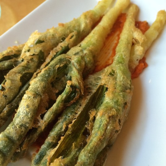 Puerros en tempura