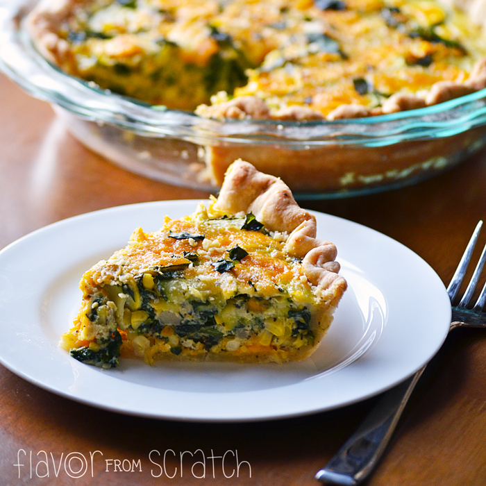 Zucchini Corn Spinach Quiche Flavor From Scratch