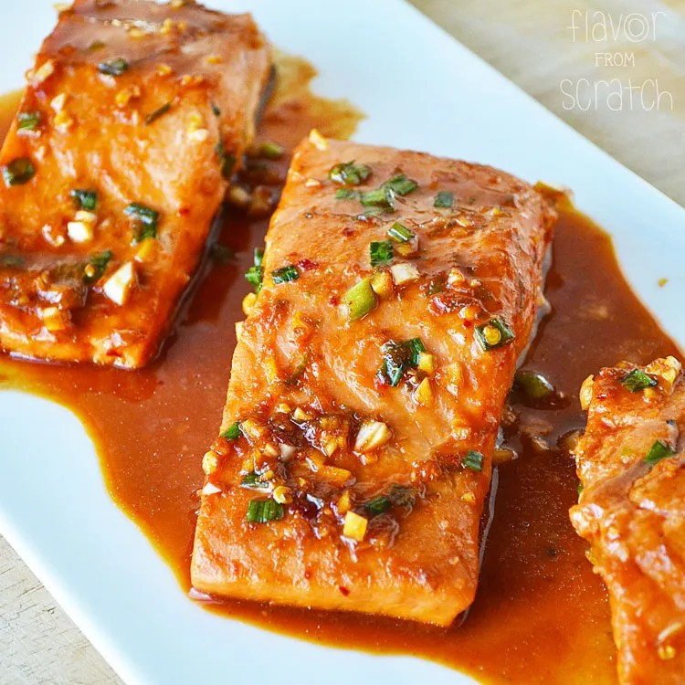 Asian Marinated Salmon Flavor From Scratch
