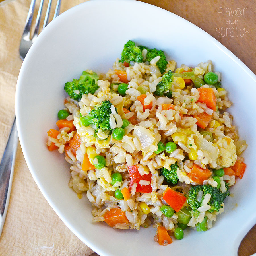 Veggie Fried Rice - Flavor From Scratch