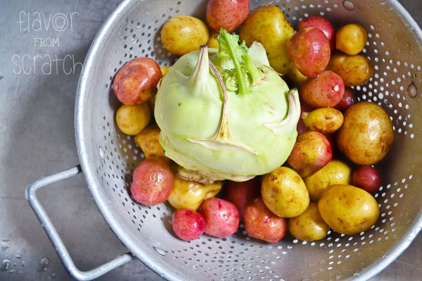 Kohlrabi and Potatoes