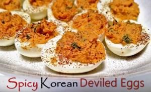 Spicy Korean Deviled Eggs