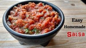 Easy Homemade Salsa