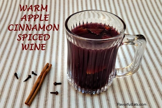 Warm Apple Cinnamon Spiced Wine