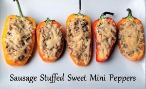 Sausage Stuffed Sweet Mini Peppers