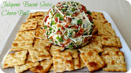 Jalapeno Bacon Swiss Cheese Ball