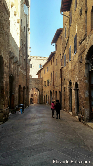 Inside the walls of San Gimignano