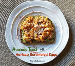 Avocado Toast with Harissa Scrambled Eggs