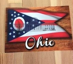 postcard ohio flag