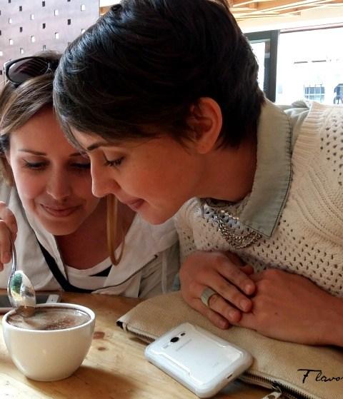 Tasting coffee in Bogota during tour