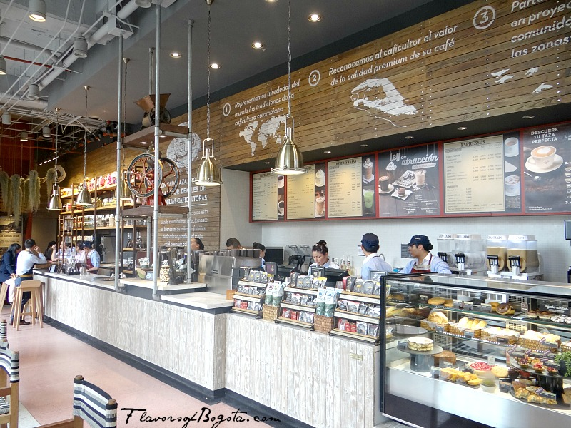 Juan Valdez Coffee Shop gets a New Image   Flavors of Bogota Interior at Cra 9 Juan Valdez Bogota