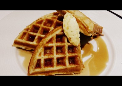 Waffles at W brunch Bogota