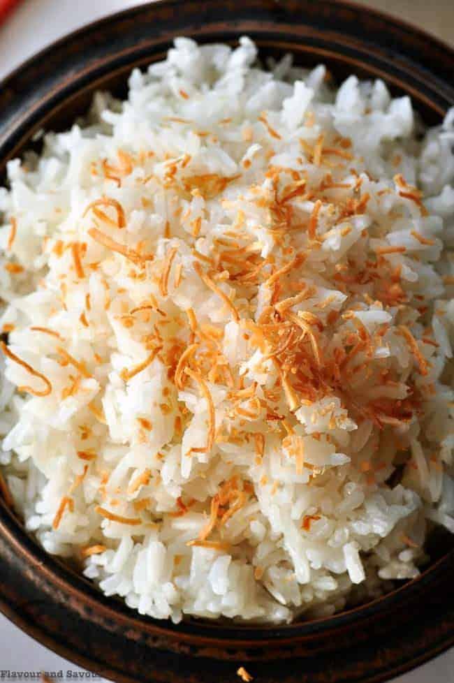 Never Fail Thai Coconut Rice close up view