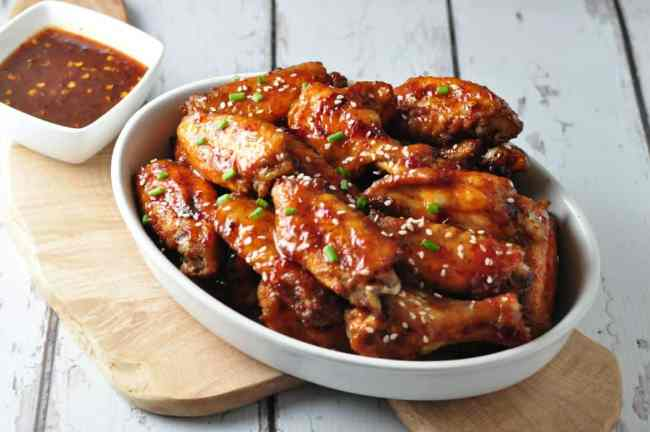 Chipotle Honey-Mustard Glazed Chicken Wings from Flavour and Savour