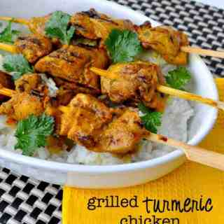 Grilled Turmeric Chicken |www.flavourandsavour.com #thai #skewers #appy