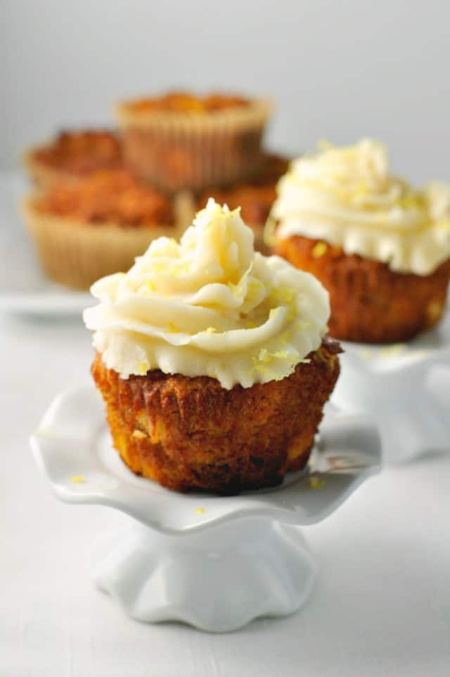 Paleo Carrot Cake Cupcakes with Coconut Butter Frosting