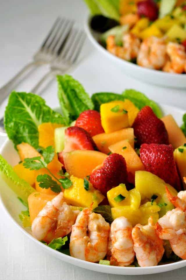 Southwestern Fruit Salad with Tequila Lime Dressing  www.flavourandsavour.com
