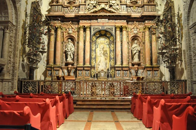 Cathedral altar in Seville Spain