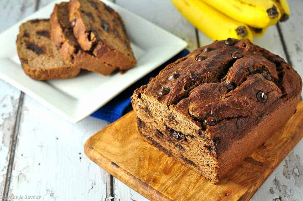 Paleo Chocolate Chip Banana Bread - Flavour and Savour