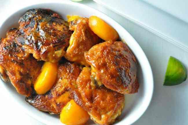 Easy Chipotle Peach Glazed Chicken|www.flavourandsaovur.com