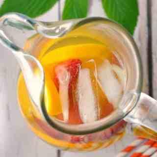 Raspberry Leaf Rosemary and Orange Iced Tea |www.flavourandsavour.com