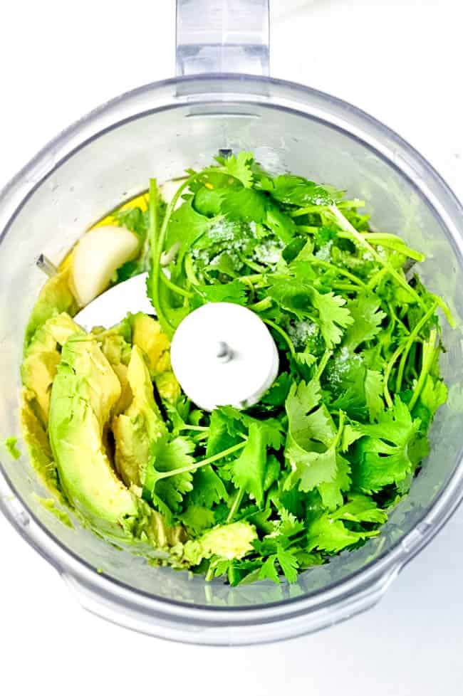 Simple recipe for Dairy Free Avocado Crema. Use this as a dip, as a dressing, or as a topping for tacos.