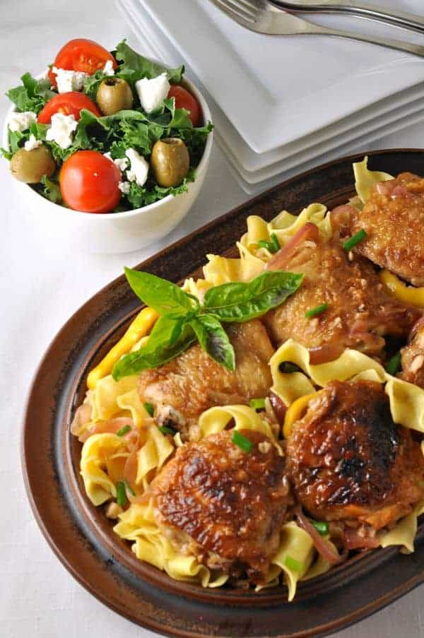 Lemon garlic chicken with pasta flavour and savour lemon garlic chicken with pasta and herbs easy family dinner with ingredients you already have forumfinder Choice Image
