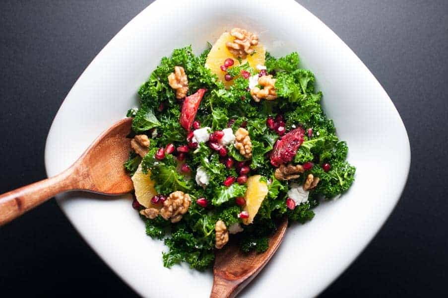 Fit and Healthy Kale Salad with Superfoods. Packed full of antioxidants! |www.flavourandsavour.com