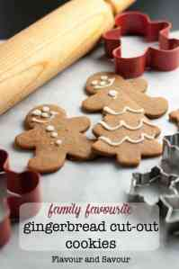 Traditional and Reliable Gingerbread Cut-Out Cookies decorated with royal icing