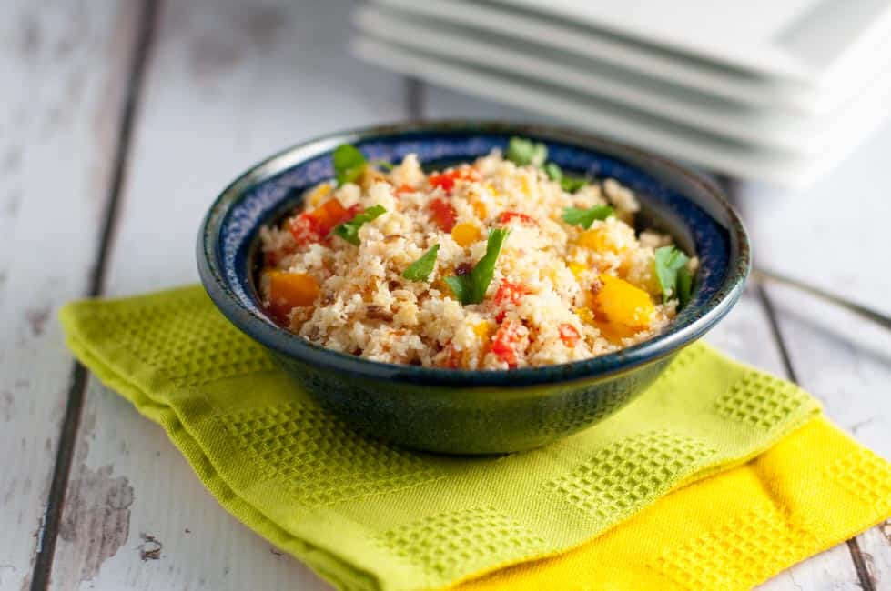 3 Easy Steps to Make Cauliflower Rice. Instructions and recipe ideas to make and freeze this healthy side dish.
