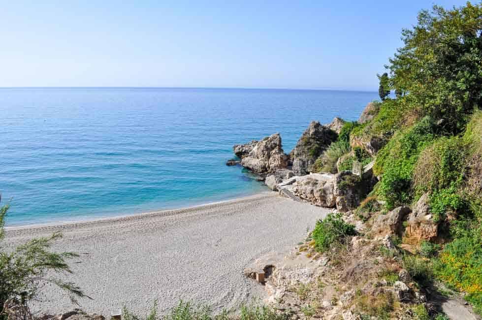 Beach near Nerja, Spain on the Costa del Sol