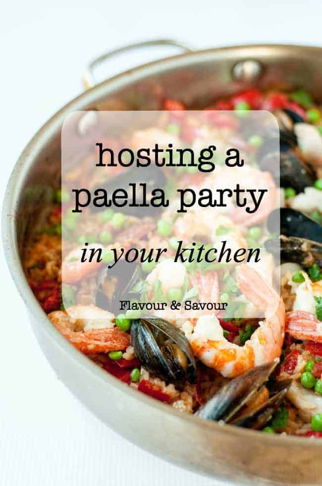 Create the festive atmosphere of an outdoor paella party and have just as much fun hosting a paella party at home. Five tips to make perfect paella! #howtomake #Paella #seafood #valencia_rice #bombu_rice #Paella_party