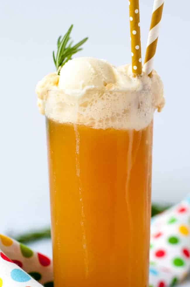 The Ultimate Healthy Kombucha Float. Get a healthy dose of probiotics and enjoy it with your favourite ice cream or gelato. |www.flavourandsavour.com