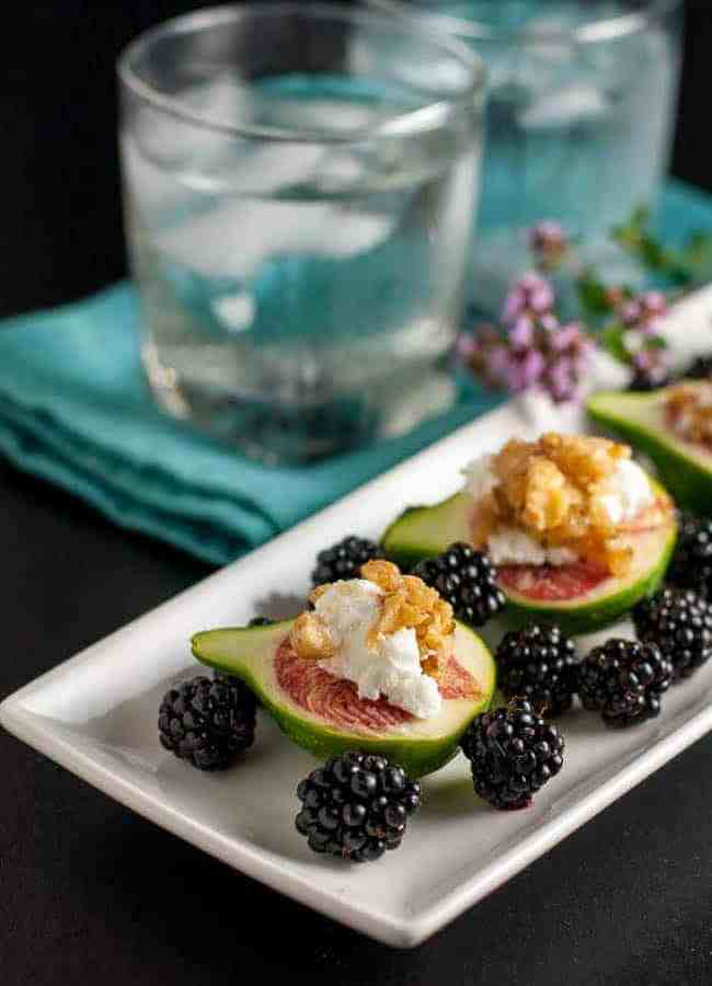Fresh Figs with Goat Cheese and Maple Walnuts