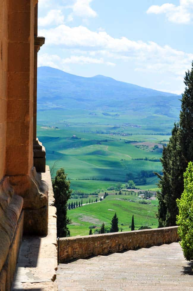 Traveling in the Heart of Tuscany Pienza view