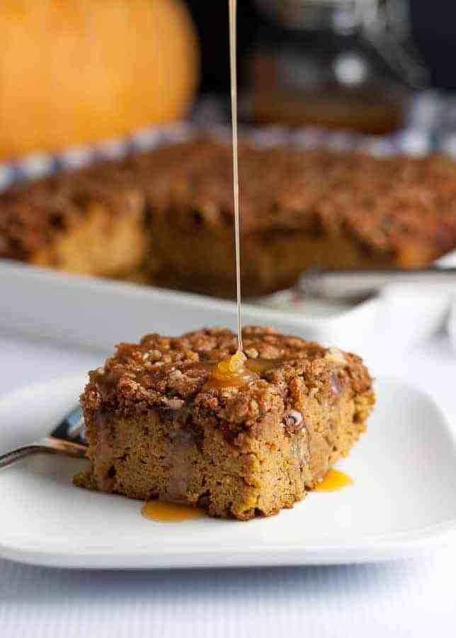 Pumpkin Pecan Caramel Coffee Cake
