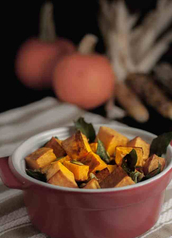 Butternut Squash with Sage and Pepitas