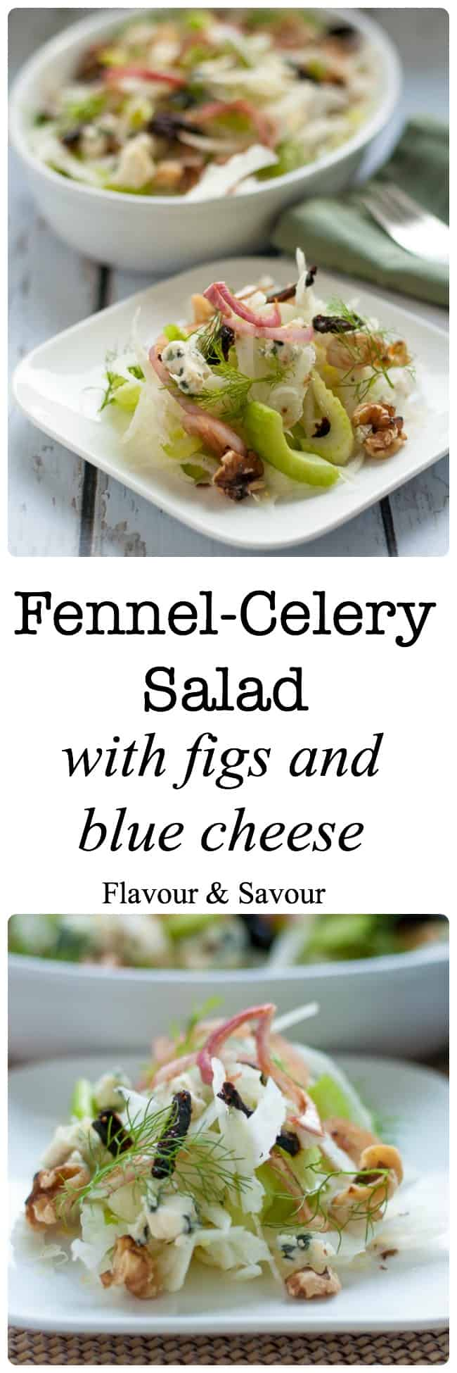 Fennel-Celery Salad with Figs and Blue Cheese.