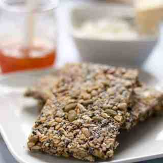 These super seedy snack crackers are packed full of healthy seeds. They're a sturdy cracker to enjoy on their own, with soup, or spread with cream cheese or goat cheese.