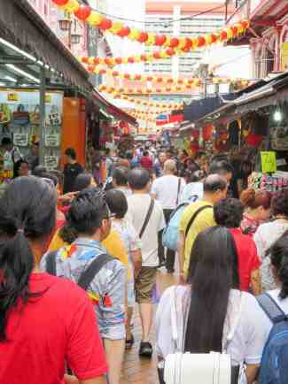 Busy Streets in Singapore's Chinatown. Two Days in Singapore: Must-See Activities